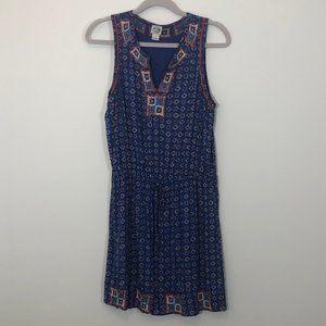 Irving & Fine by Lucky Brand blue patterned dress